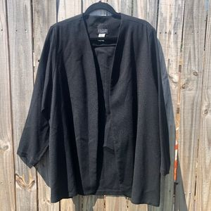 Eileen Fisher Black 100% Wool Cardigan